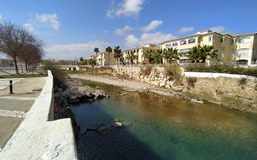 Desembocadura del Río Gorgos o Jalón a su paso por Jávea