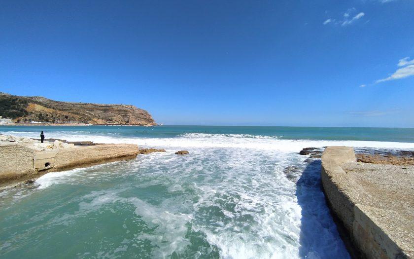Desembocadura del río Gorgos o Jalón en la Bahía de Jávea